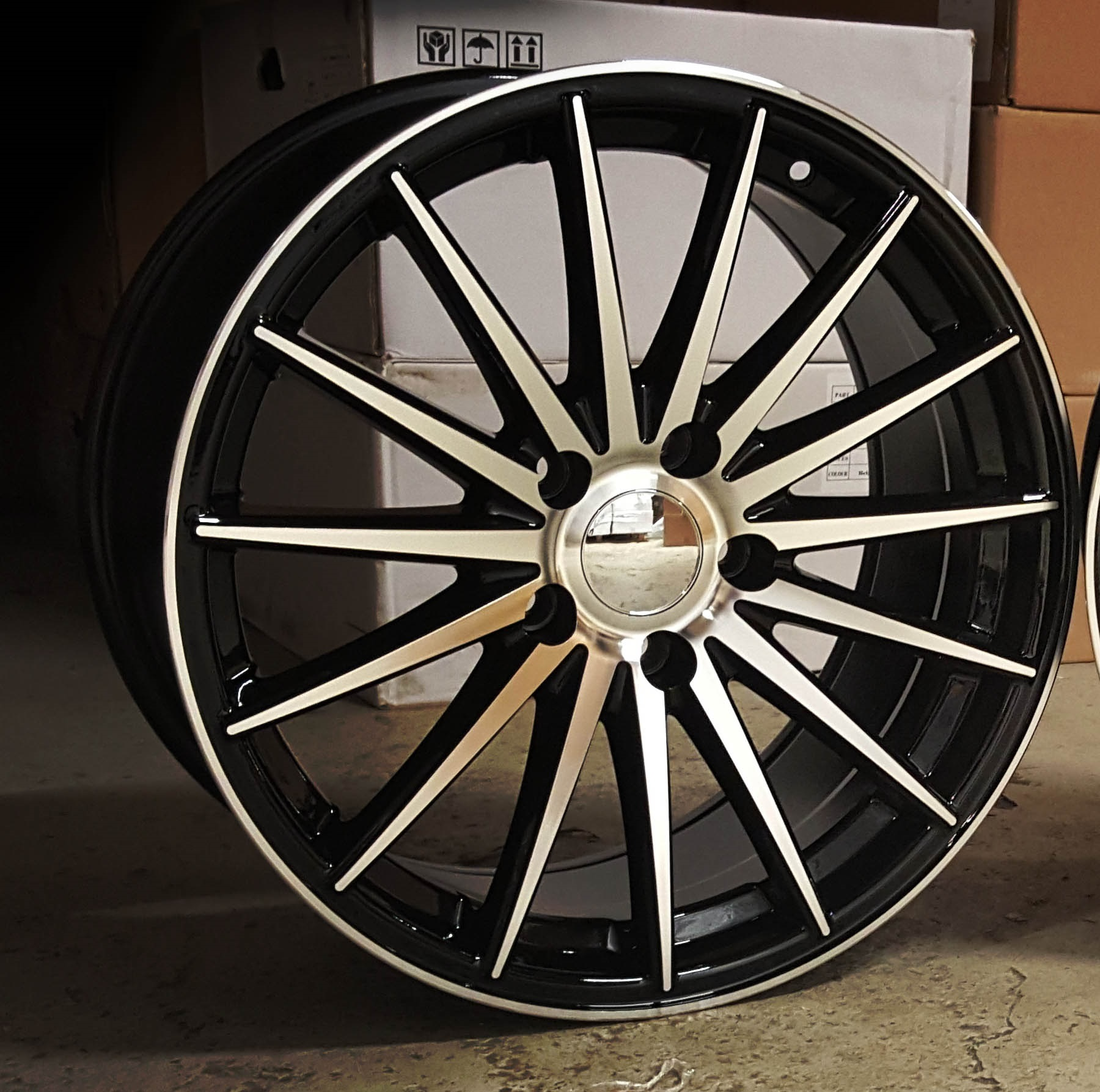 "NEW 18"" DARE DR-74 ALLOYS IN GLOSS BLACK WITH POLISHED FACE, DEEPER 9.5"" REARS"