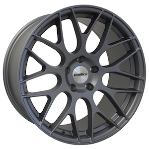 "NEW 19"" CALIBRE CC-M Y SPOKE ALLOY WHEELS IN SATIN GUNMETAL, DEEPER CONCAVE 10"" REAR et35/35"