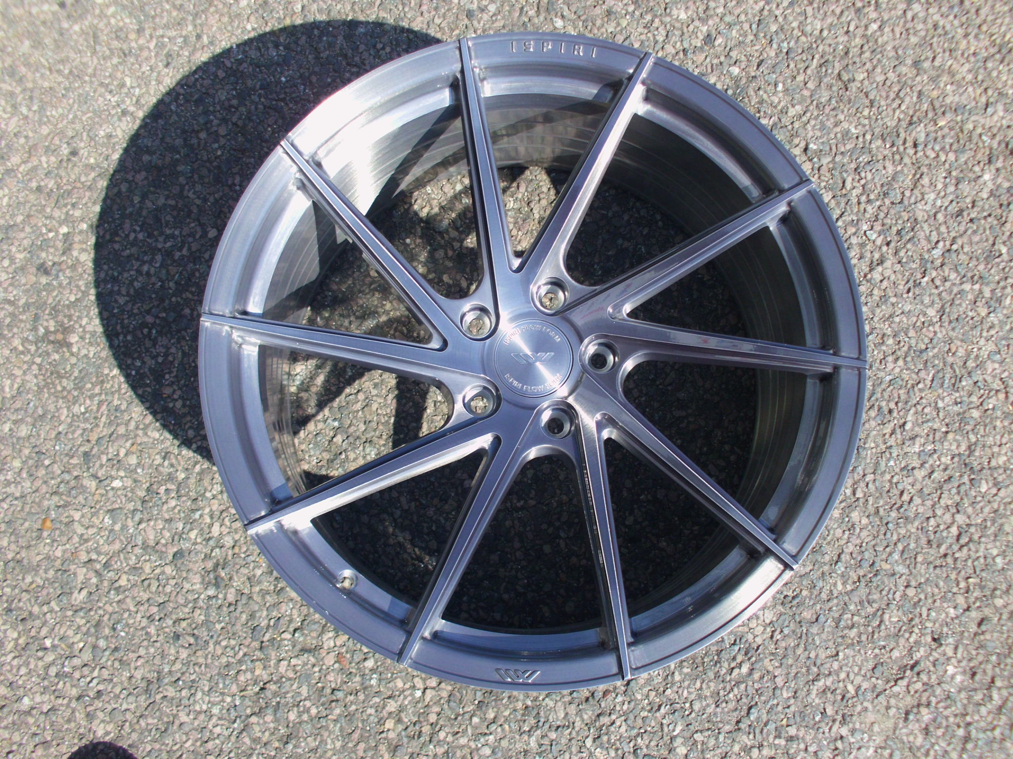 "NEW 20"" ISPIRI FFR1D MULTI-SPOKE DIRECTIONAL ALLOY WHEELS IN FULL BRUSHED CARBON TITANIUM, DEEPER CONCAVE 10.5"" REARS 5x120"