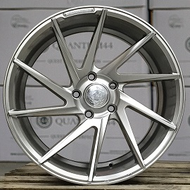 "NEW 19"" QUANTUM44 S5D DIRECTIONAL ALLOY WHEELS IN HYPER SILVER, DEEPER CONCAVE 10"" REARS"