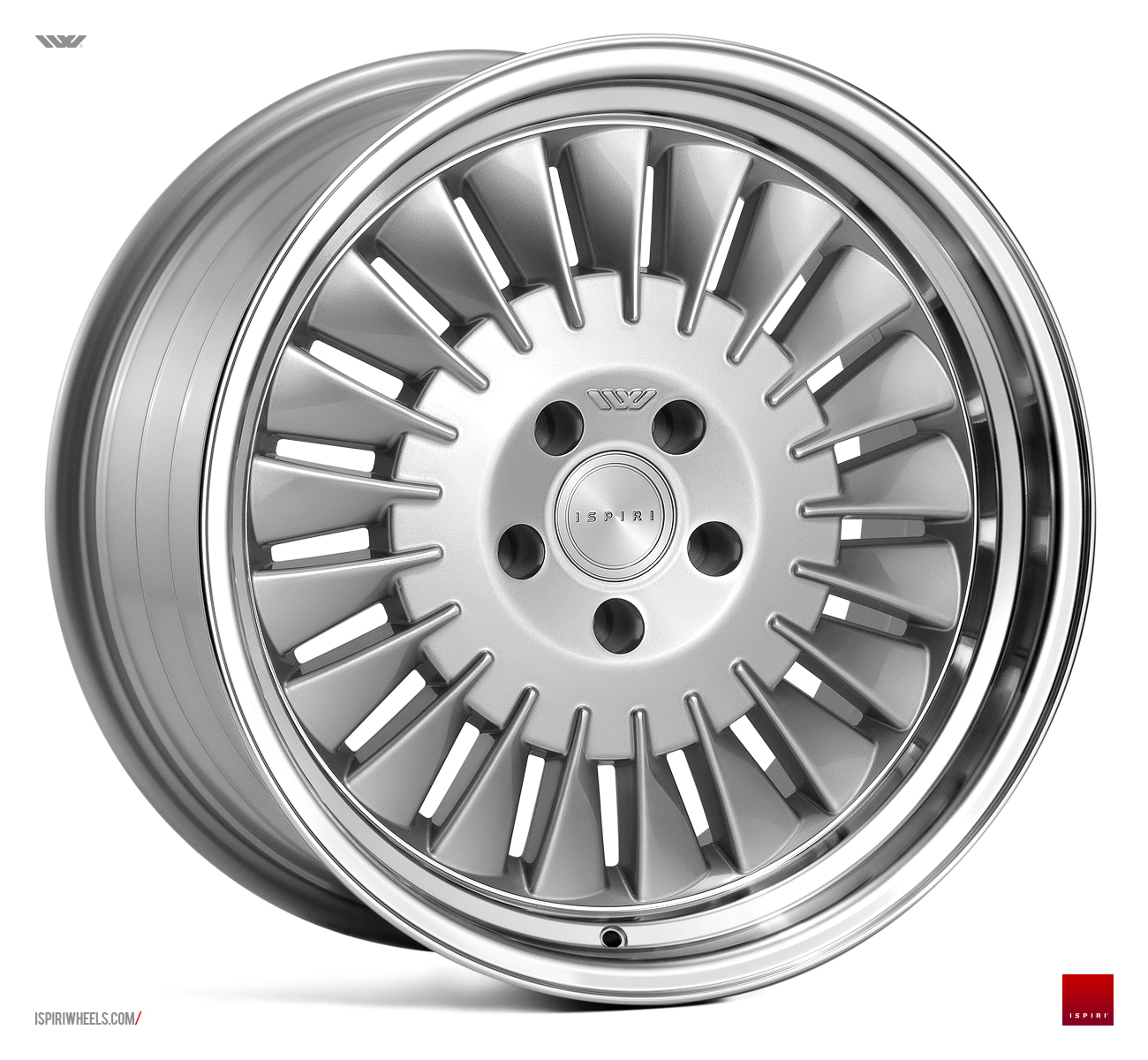 "NEW 18"" ISPIRI CSR1D DIRECTIONAL ALLOY WHEELS IN SILVER WITH POLISHED LIP, WIDER 9.5"" REARS, et35/40"