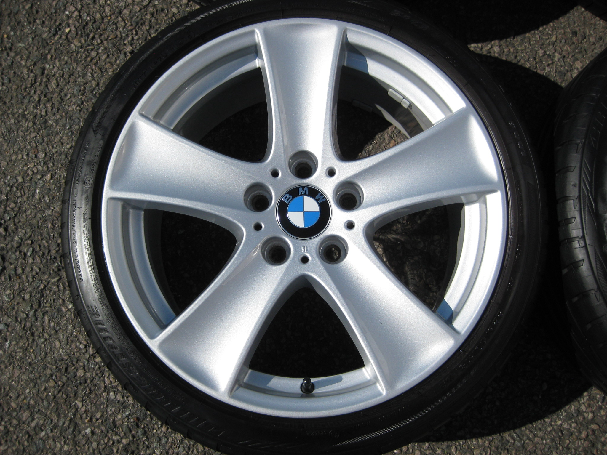 "USED 18"" GENUINE STYLE 209 5 SPOKE ALLOY WHEELS, FULLY REFURBED INC GOOD TYRES"