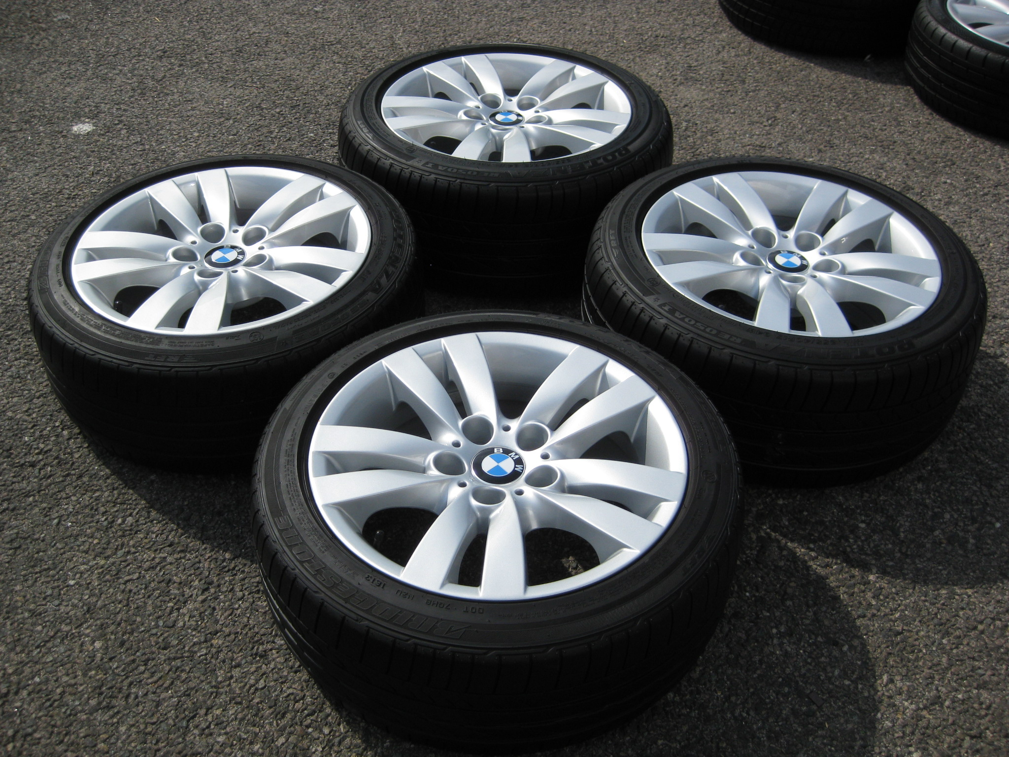 Used 17 Quot Genuine Style 161 E9x Double Spoke Alloys Wide