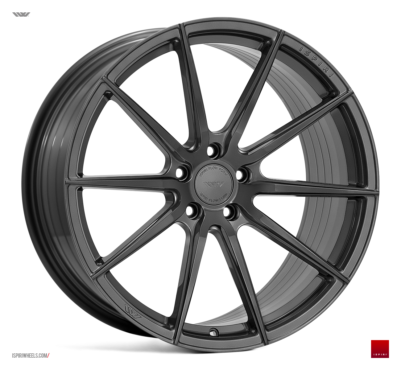 "NEW 20"" ISPIRI FFR1 MULTI-SPOKE ALLOY WHEELS IN CARBON GRAPHITE, DEEPER CONCAVE 10"" REARS"