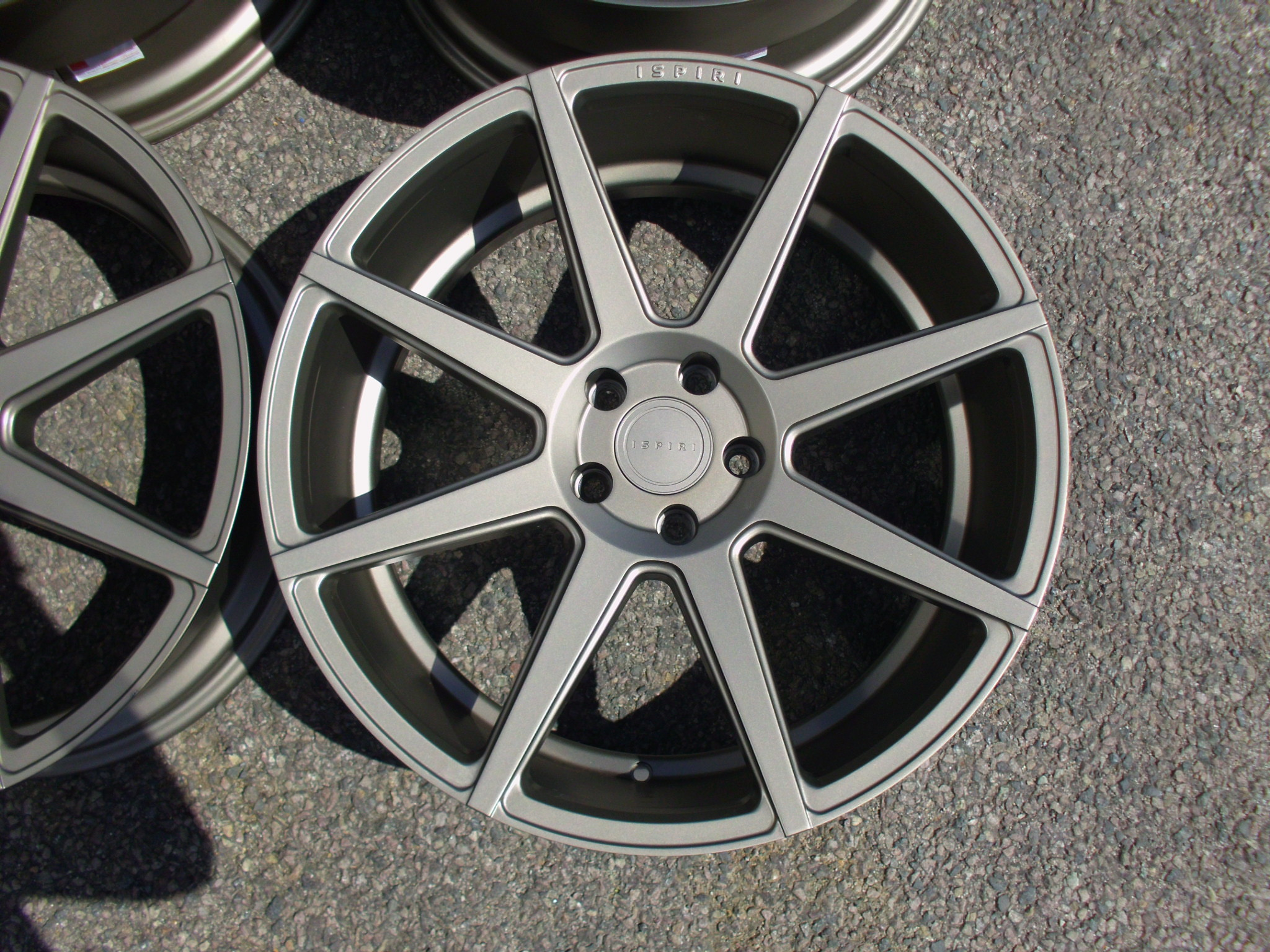 "NEW 20"" ISPIRI ISR8 ALLOY WHEELS IN MATT CARBON BRONZE WITH WIDER 10"" REARS"