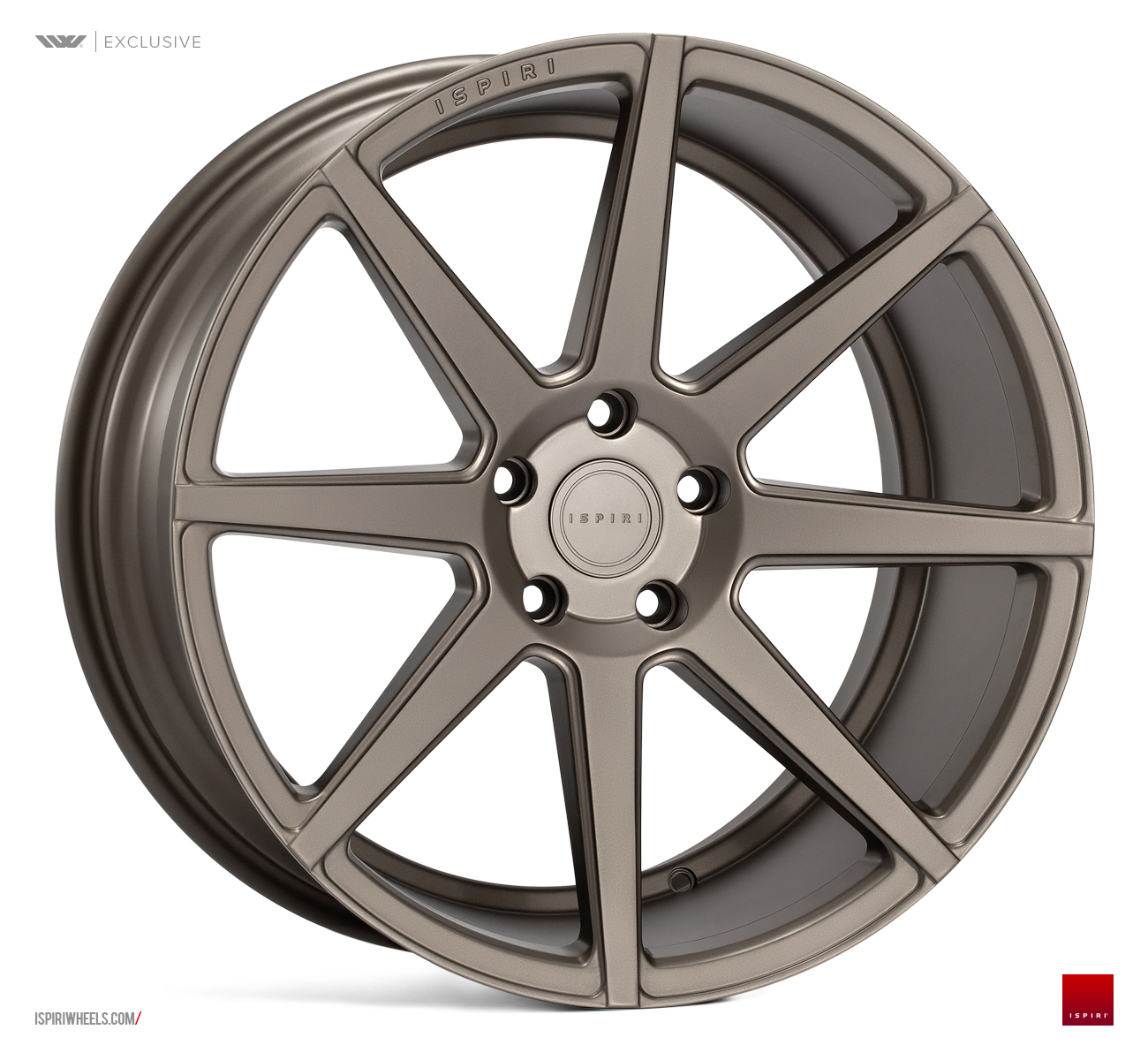 "NEW 20"" ISPIRI ISR8 IN MATT CARBON BRONZE WITH WIDER 10"" REARS et32-et45/et25-et35-et45"