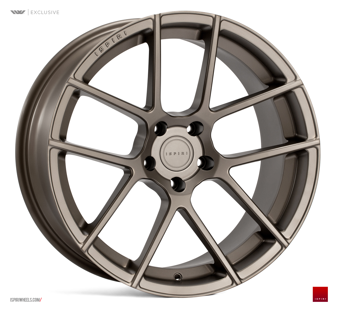 "NEW 20"" ISPIRI ISR6 ALLOY WHEELS IN MATT CARBON BRONZE WITH DEEPER CONCAVE 10"" REARS"