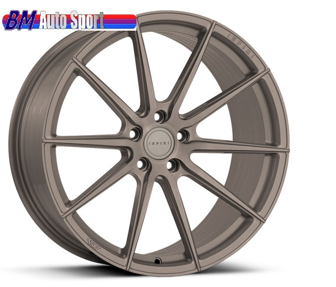 "NEW 19"" ISPIRI FFR1 MULTI-SPOKE ALLOY WHEELS IN MATT CARBON BRONZE, DEEPER CONCAVE 9.5"" REARS ET32/40"