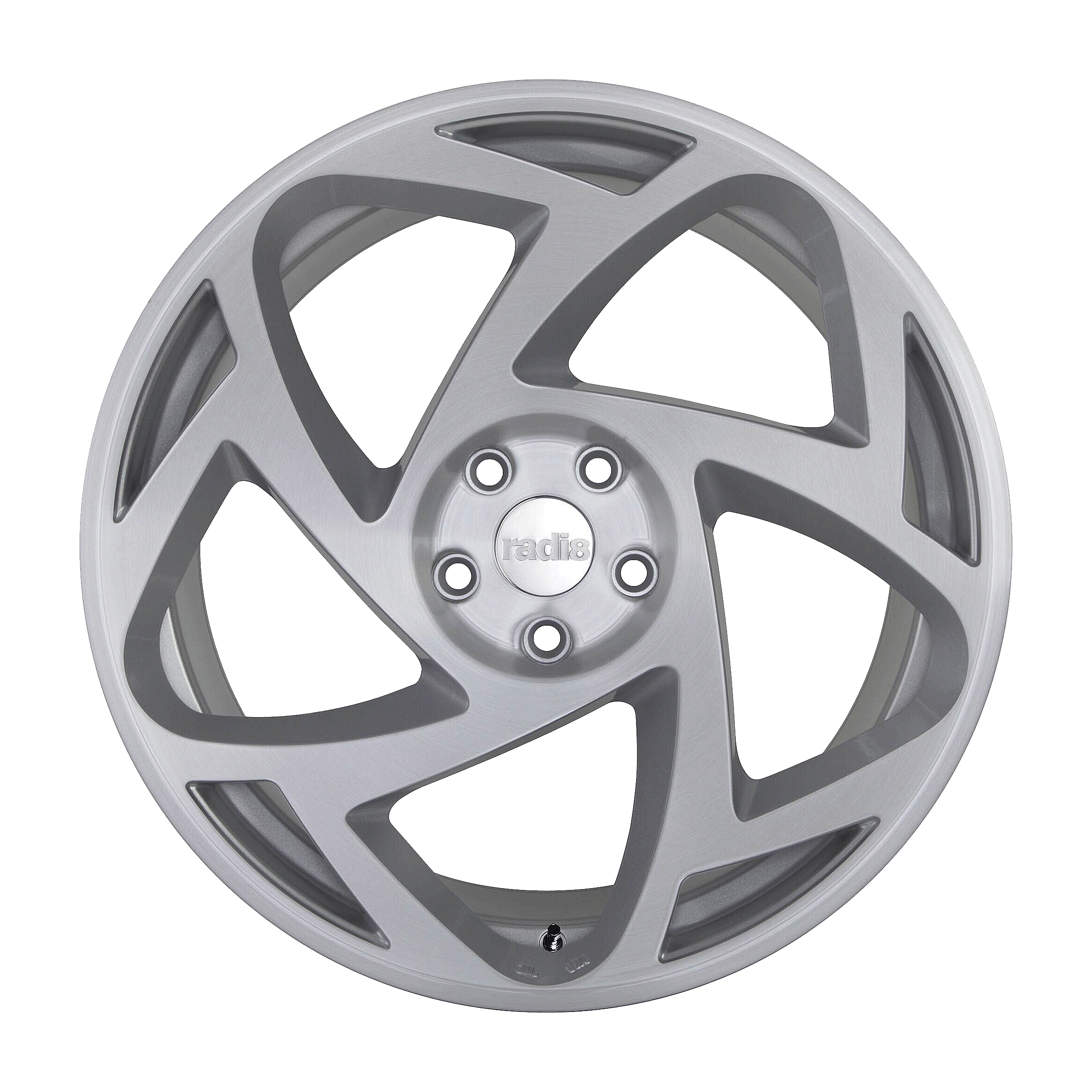 "NEW 18"" RADI8 R8S5 ALLOY WHEELS IN MATT SILVER WITH MATT POLISHED FACE, WIDER 9.5"" REARS"