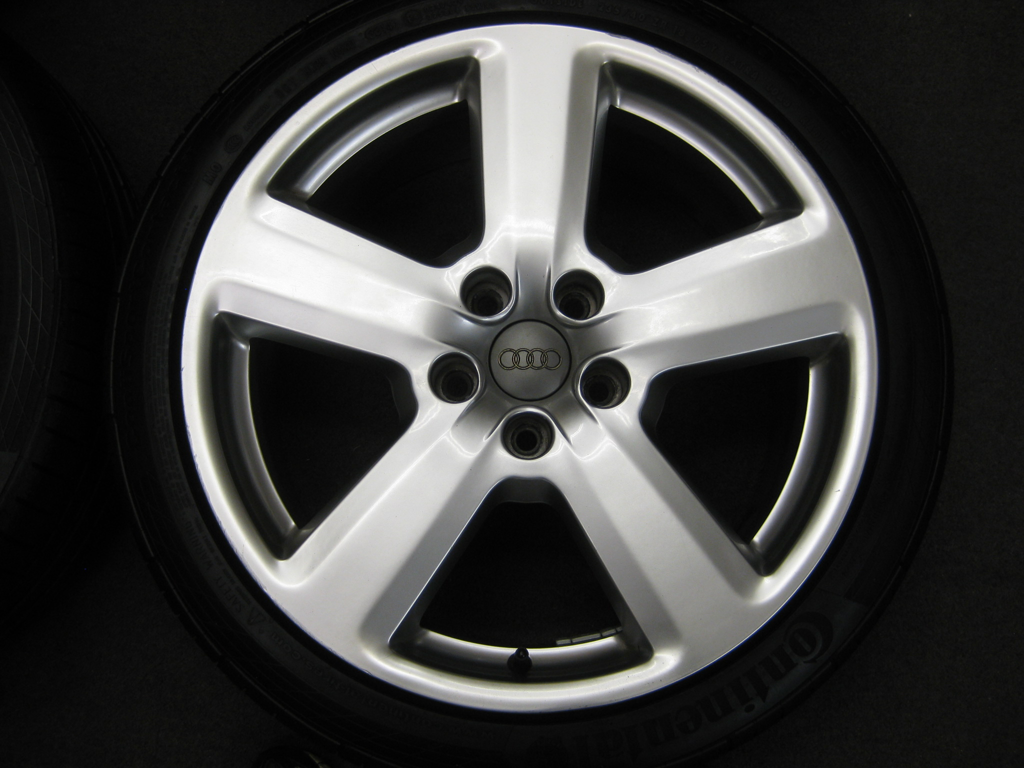 "USED 18"" GENUINE AUDI RS6 SLINE ALLOYS,CLEAN INC GOOD CONTINENTAL TYRES 5X112 ET43"