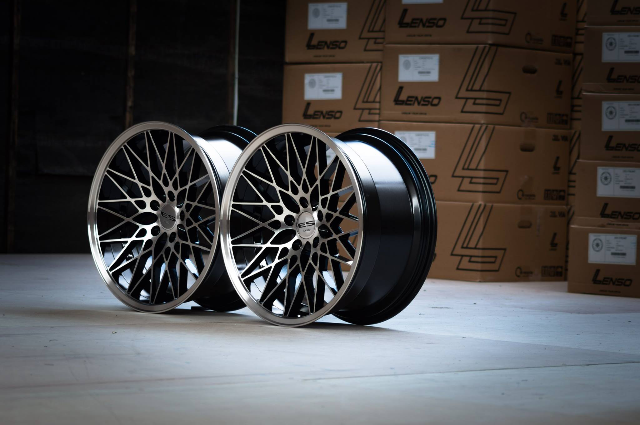 """E30 Side View >> NEW 18"""" LENSO ESG DEEP CONCAVE ALLOYS IN GLOSS BLACK WITH POLISHED FACE AND LIP, WIDER 9.5 ..."""