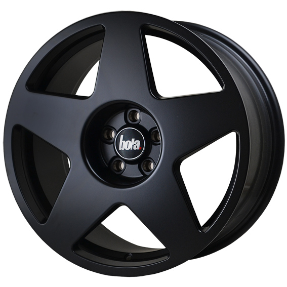 "NEW 18"" BOLA B10 5 SPOKE ALLOY WHEELS IN MATT BLACK WIDER 9"" REAR et42/45"