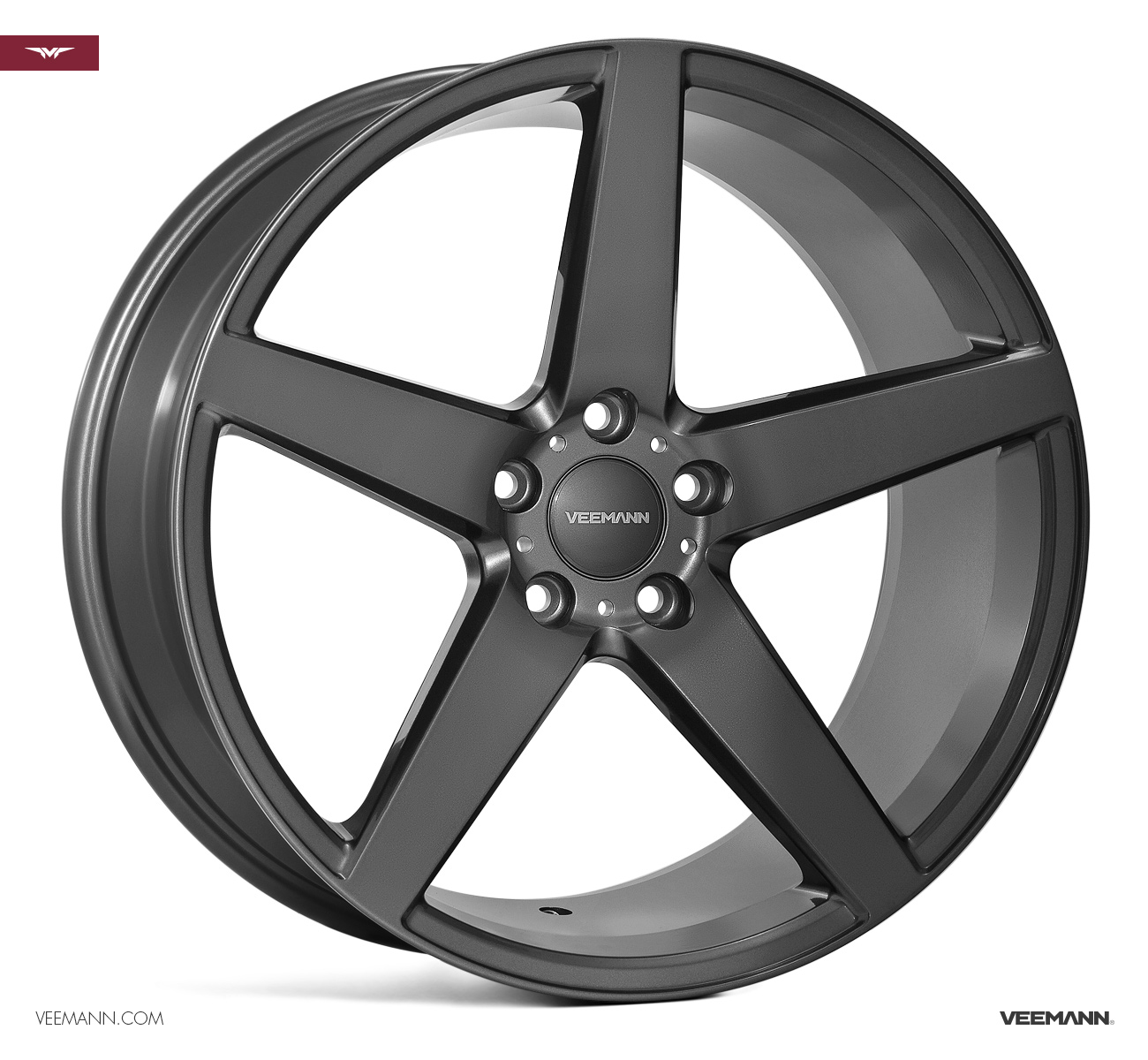 "NEW 22"" VEEMANN V-FS8 ALLOYS IN GLOSS GRAPHITE WITH DEEPER CONCAVE 12"" REARS"
