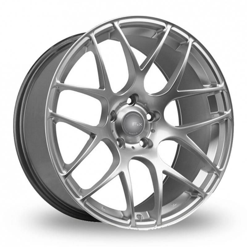 "NEW 18"" FOX MS007 ALLOY WHEELS IN HYPER SILVER WITH WIDER 8.5"" REARS"
