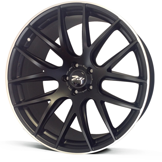 "NEW 19"" ZITO 935 CSL GTS ALLOYS IN MATT BLACK WITH POLISHED LIP, DEEPER CONCAVE 9.5"" REARS"