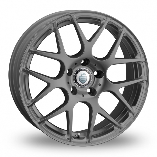 "NEW 18"" CADES BERN ACCENT FROZEN GREY CROSS SPOKE WIDER REAR ALLOY WHEELS"