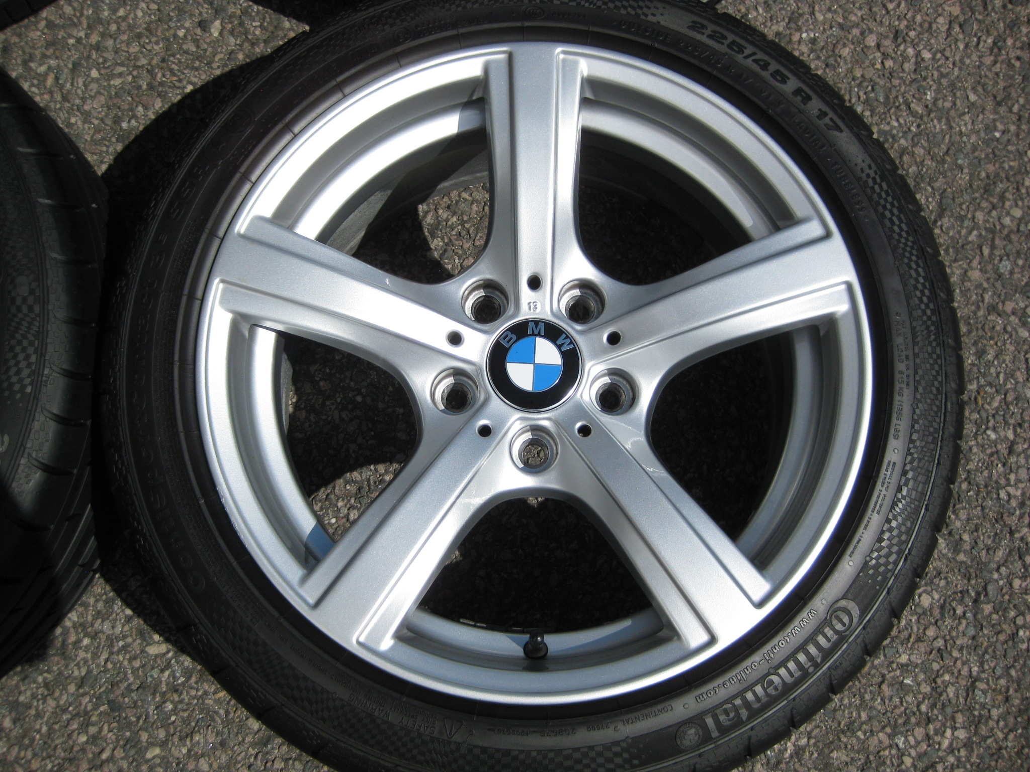 "USED 17"" GENUINE BMW STYLE 290 E89 Z4 5 SPOKE ALLOY WHEELS, VERY GOOD CONDITION INC VG RUNFLAT TYRES"