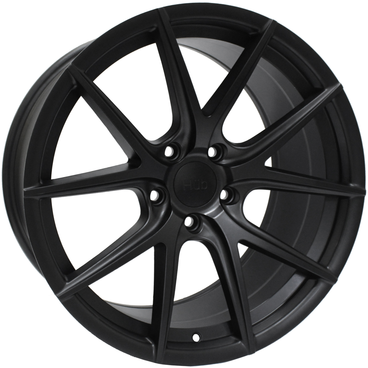 "NEW 19"" HUB V5 ALLOYS IN MATT BLACK WITH WIDER 9.5"" REARS"