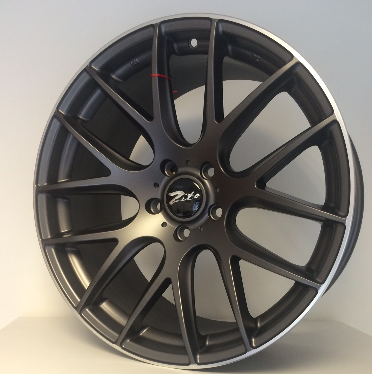"NEW 20"" ZITO 935 CSL GTS ALLOYS, MATT GUNMETAL WITH POLISHED LIP, DEEPER CONCAVE 9.5"" REARS"
