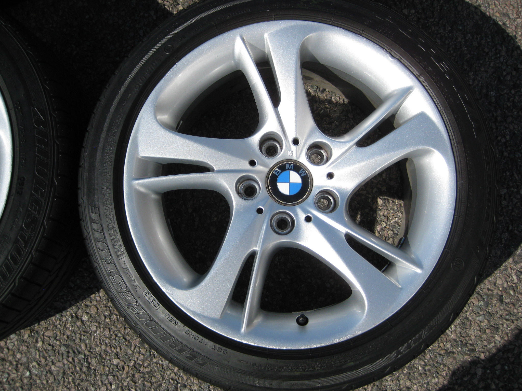 "USED 17"" GENUINE BMW STYLE 292 E89 Z4 TURBINE SPOKE ALLOY WHEELS, WIDE REAR, VGC INC GOOD RUNFLATS TYRES"