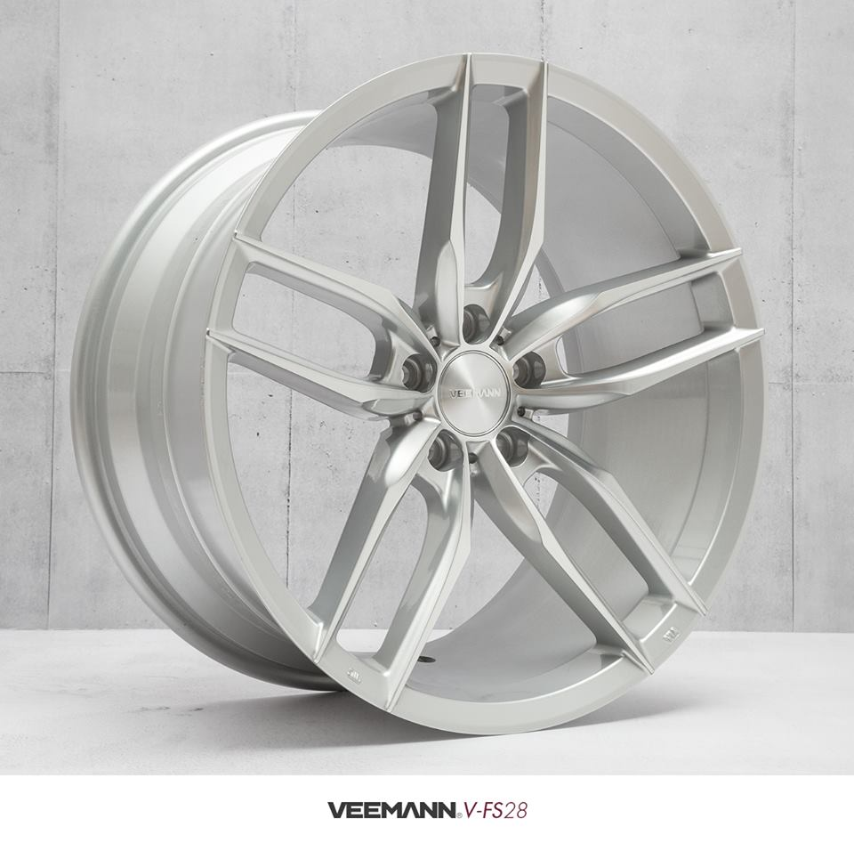 "NEW 20"" VEEMANN V-FS28 ALLOYS IN SILVER POL WITH DEEPER CONCAVE 10"" REARS"