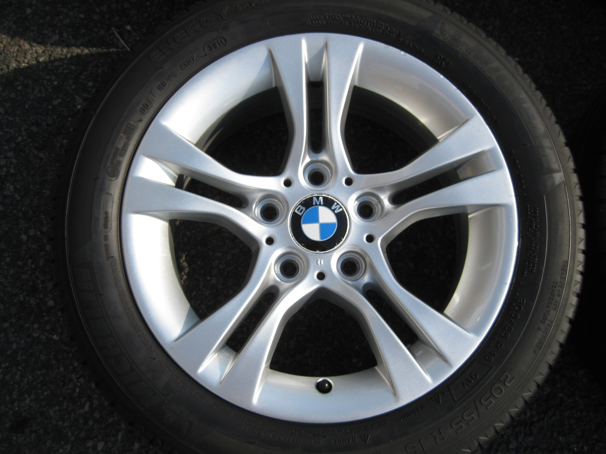 "USED 16"" GENUINE STYLE 268 DOUBLE SPOKE ALLOY WHEELS, CLEAN INC GOOD MICHELIN NON RUNFLAT TYRES"