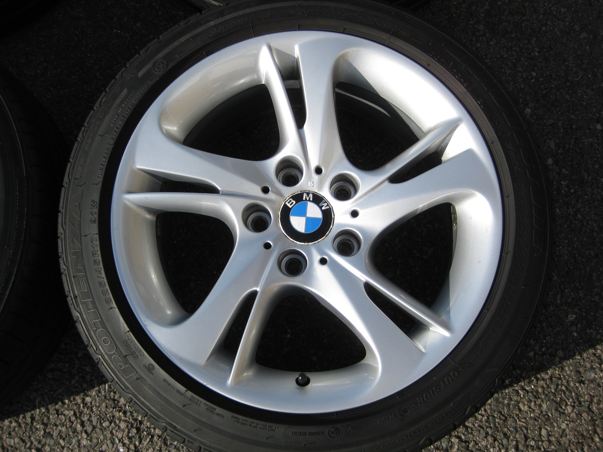 "USED 17"" GENUINE BMW STYLE 292 E89 Z4 TURBINE SPOKE ALLOY WHEELS, WIDER REAR, VGC INC GOOD BRIDGESTONE RUNFLAT TYRES"