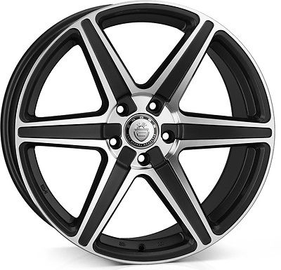 "NEW 20"" CADES THOR ALLOY WHEELS IN MATT BLACK POL DIRECT 65.1CB"
