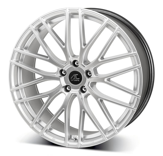 "NEW 20"" AC SYCLONE ALLOY WHEELS IN HYPER SILVER, WIDER 9.5"" REARS"