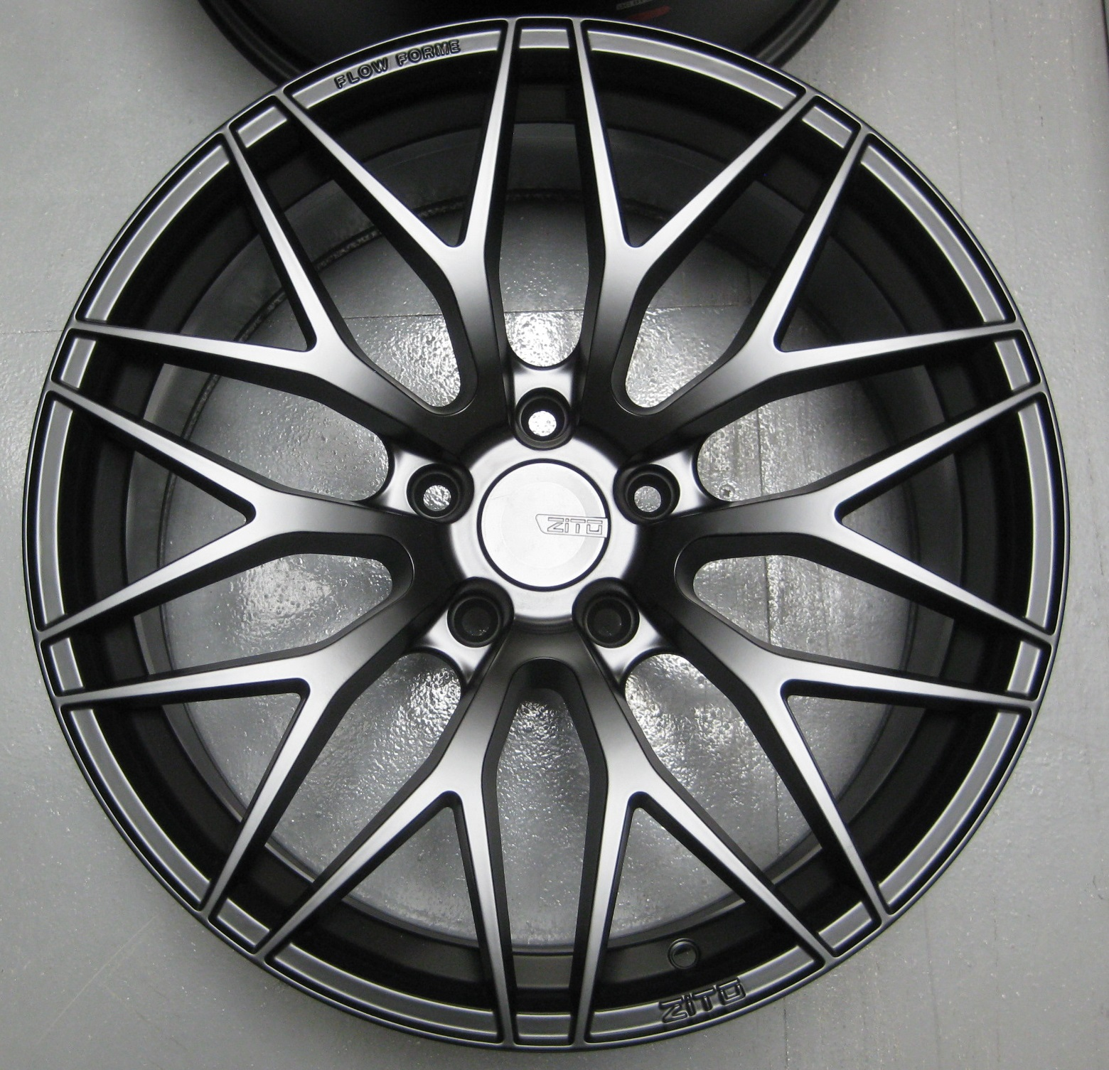 "NEW 19"" ZITO ZF01 FLOW FORMED ALLOY WHEELS IN SATIN BLACK WITH DEEPER CONCAVE 10"" REAR"