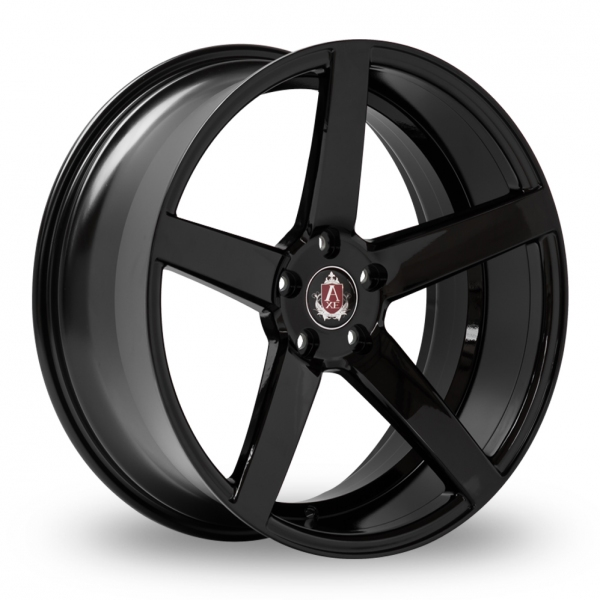 "NEW 20"" AXE EX18 DEEP CONCAVE ALLOY WHEELS IN GLOSS BLACK WITH DEEP 10.5"" REARS"