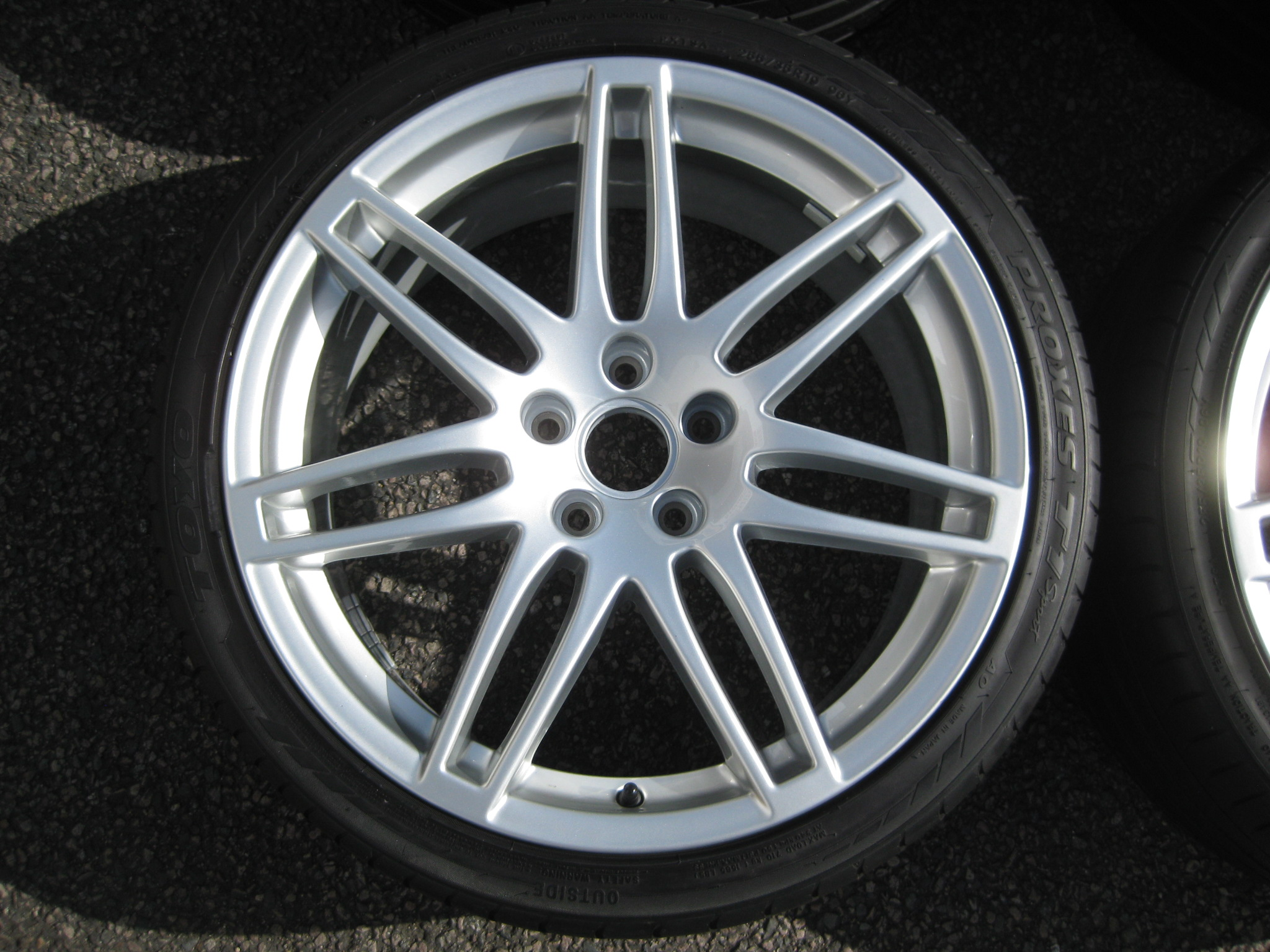 "USED 19"" GENUINE AUDI RS4 S LINE ALLOYS, FULLY REFURBED INC TOYO TYRES, 5X112 ET52"