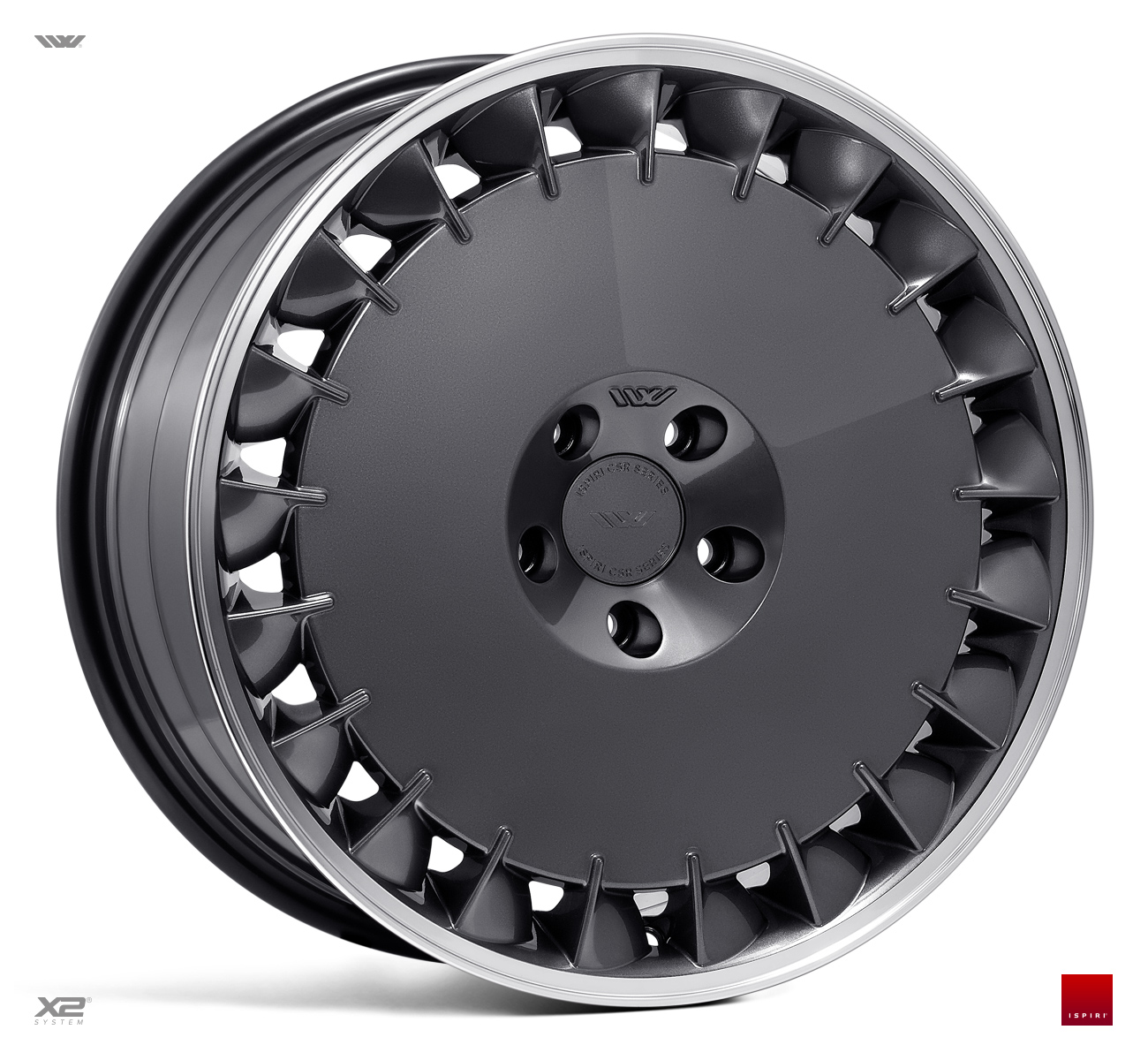 "NEW 19"" ISPIRI CSRD TF DIRECTIONAL ALLOY WHEELS IN CARBON GRAPHITE, WITH WIDER 10"" REARS et42/42"