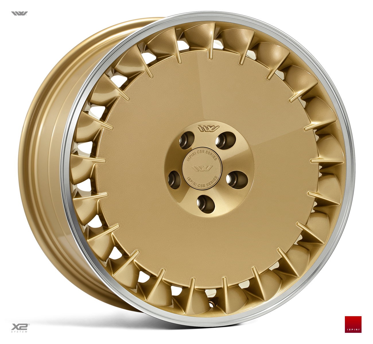 "NEW 19"" ISPIRI CSRD TF DIRECTIONAL ALLOY WHEELS IN VINTAGE GOLD, WITH WIDER 10"" REARS et42/42"