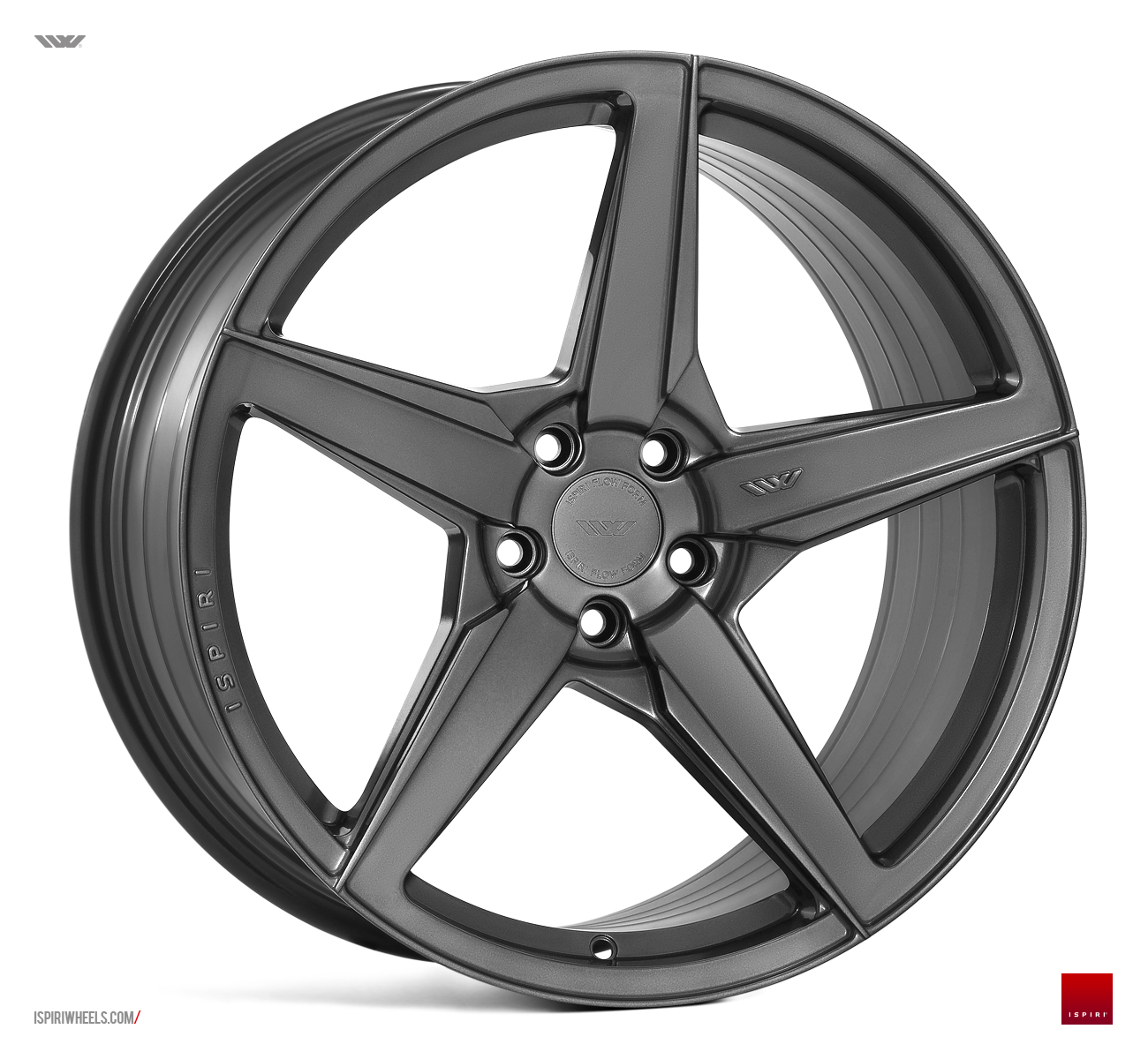 "NEW 20"" ISPIRI FFR5 5 SPOKE ALLOY WHEELS IN CARBON GRAPHITE, WIDER 10"" REAR ET32/45 5X112"