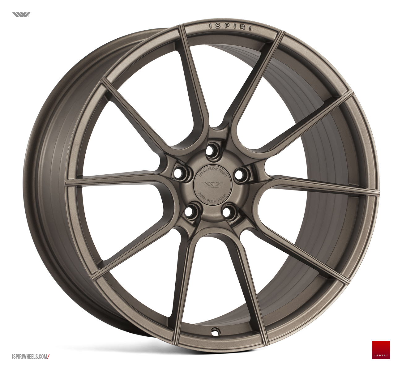 "NEW 20"" ISPIRI FFR6 TWIN 5 SPOKE ALLOY WHEELS IN MATT CARBON BRONZE, WIDER 10"" REAR"