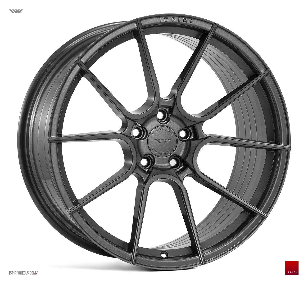 "NEW 20"" ISPIRI FFR6 TWIN 5 SPOKE ALLOY WHEELS IN CARBON GRAPHITE, WIDER 10"" OR 10.5"" REAR"