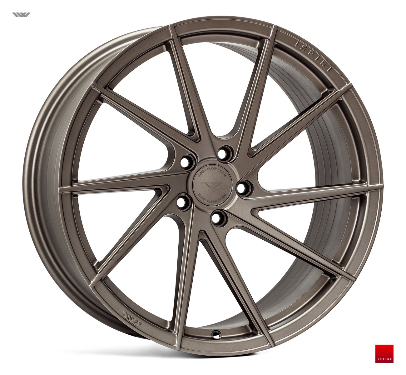 "NEW 19"" ISPIRI FFR1D MULTI-SPOKE DIRECTIONAL ALLOYS IN MATT CARBON BRONZE, WIDER 9.5"" REARS ET42/45"