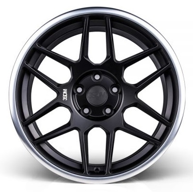 "NEW 18"" 3SDM 0.09 ALLOY WHEELS IN SATIN BLACK WITH POLISHED LIP WITH DEEPER CONCAVE 9.5"" REAR et42/40"