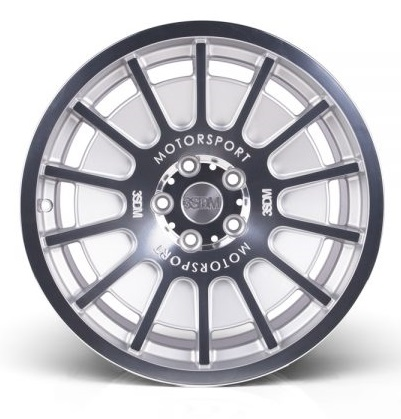 "NEW 18"" 3SDM 0.66 ALLOY WHEELS IN SILVER WITH POLISHED FACE WITH DEEPER CONCAVE 9.5"" REAR et42/40"