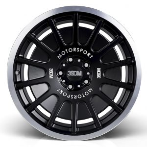 "NEW 18"" 3SDM 0.66 ALLOY WHEELS IN MATT BLACK WITH POLISHED LIP WITH DEEPER CONCAVE 9.5"" REAR et42/40"