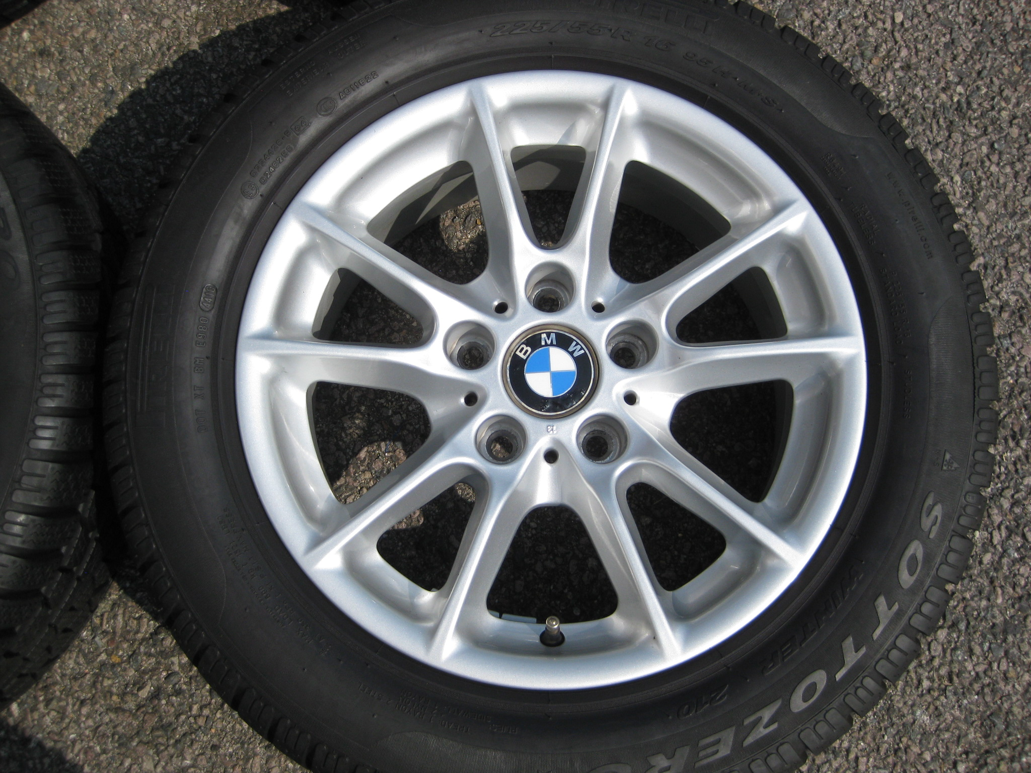 "USED 16"" GENUINE STYLE 50 RADIAL SPOKE ALLOYS,GC INC. WINTER TYRES, IDEAL METRIC REPLACEMENT"
