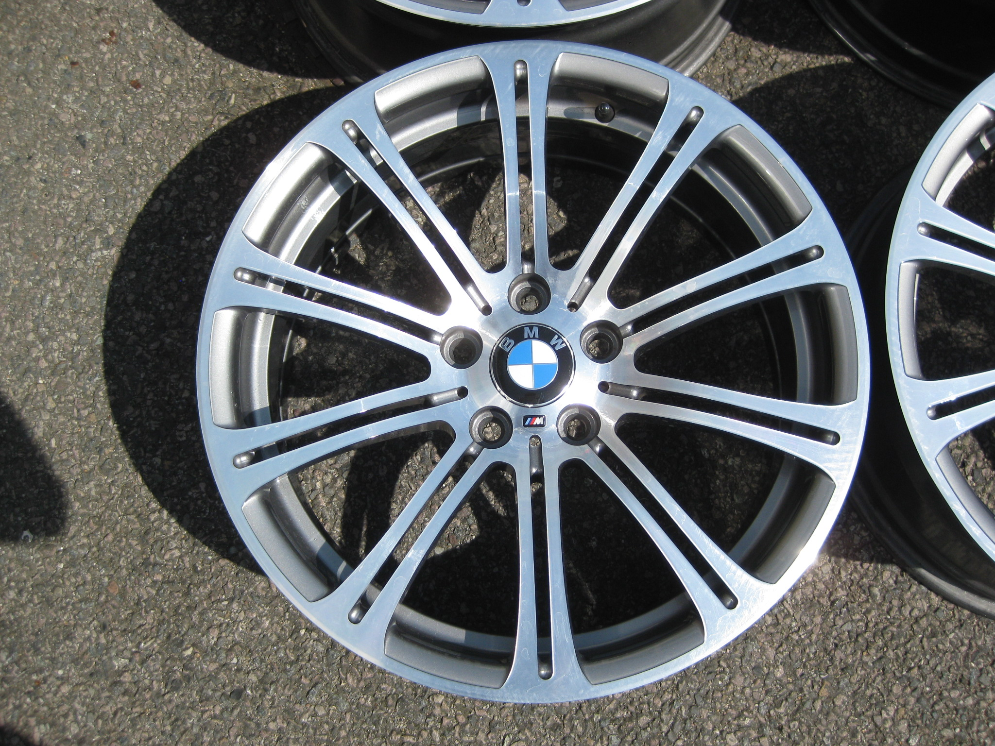 "USED 19"" GENUINE STYLE 220 E92 M3 POLISHED ALLOY WHEELS, WIDE REAR, RECENTLY FULLY REFURBISHED"