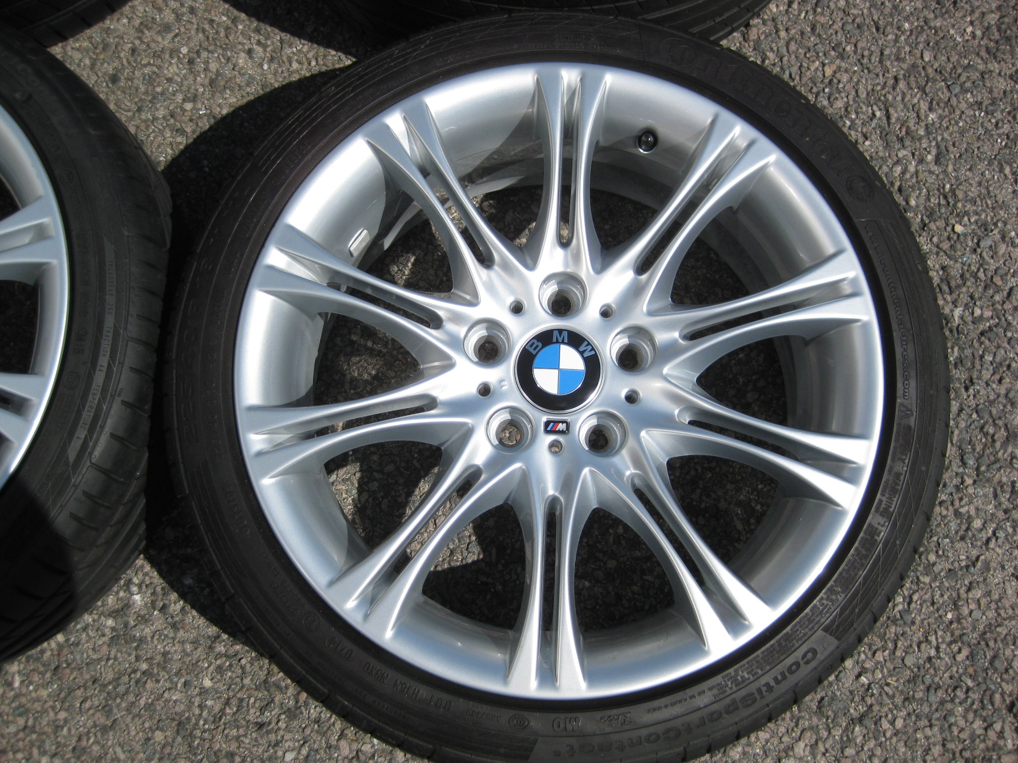 "USED 18"" GENUINE STYLE 135 E46 MV2 SPORT ALLOY WHEELS,FULLY REFURBED,WIDE REAR INC VERY GOOD TYRES"