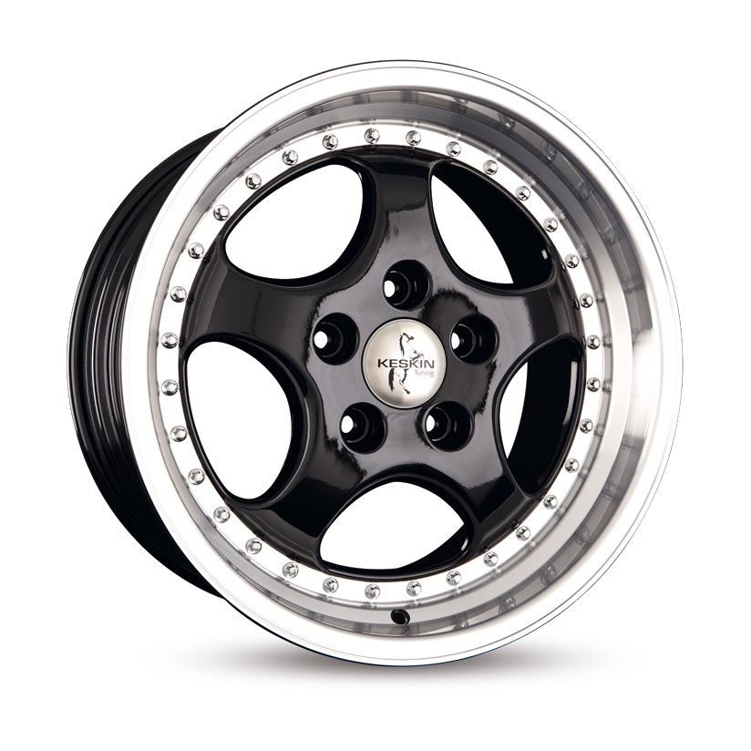 "NEW 18"" KESKIN KT2 CUP ALLOYS IN GLOSS BLACK WITH POLISHED DISH, WIDER 9.5"" REARS et52/52"