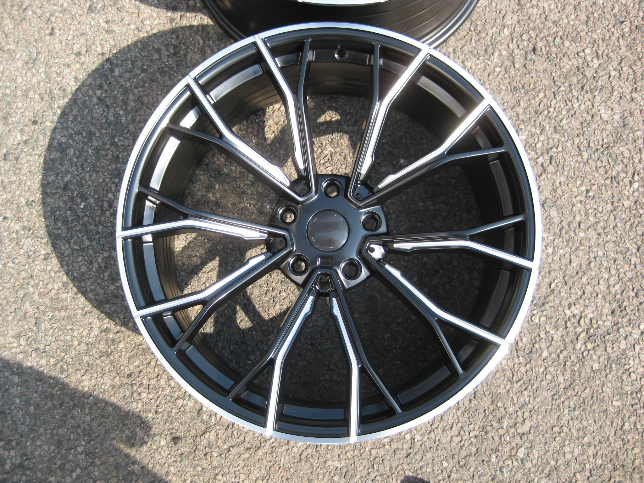 "NEW 20"" AG MG30P FLOW FORMED ALLOY WHEELS IN SATIN BLACK WITH MILLED SPOKES, DEEPER CONCAVE 10.5"" REAR"
