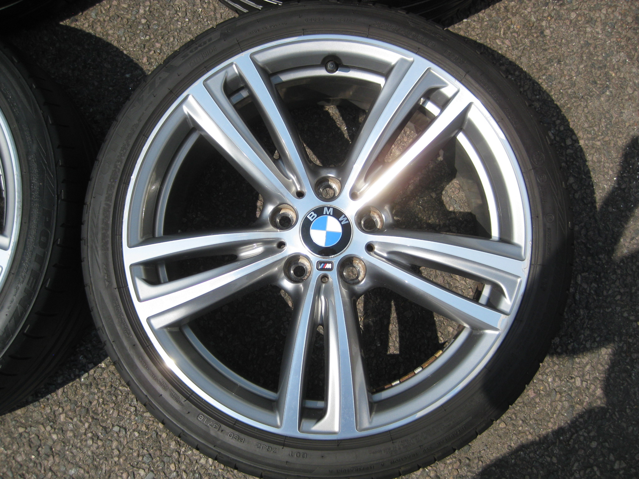 "USED 19"" GENUINE STYLE 442 F30/31 M DOUBLE SPOKE ALLOY WHEELS, GOOD CONDITION INC GOOD BRIDGESTONE RUNFLAT TYRES"