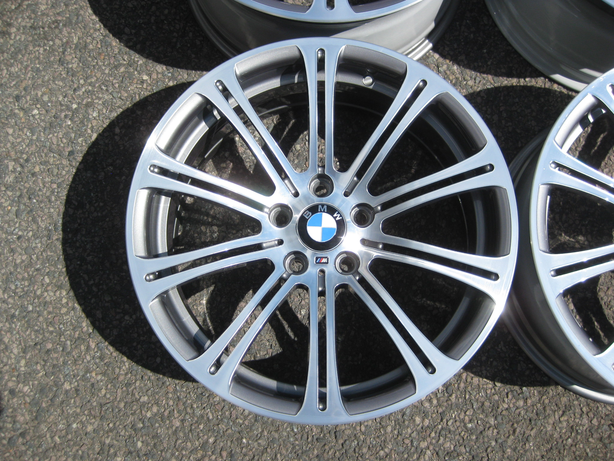 "USED 19"" GENUINE BMW STYLE 220M E92 M3 POLISHED FORGED ALLOY WHEELS, WIDE REAR, FULLY REFURBED"