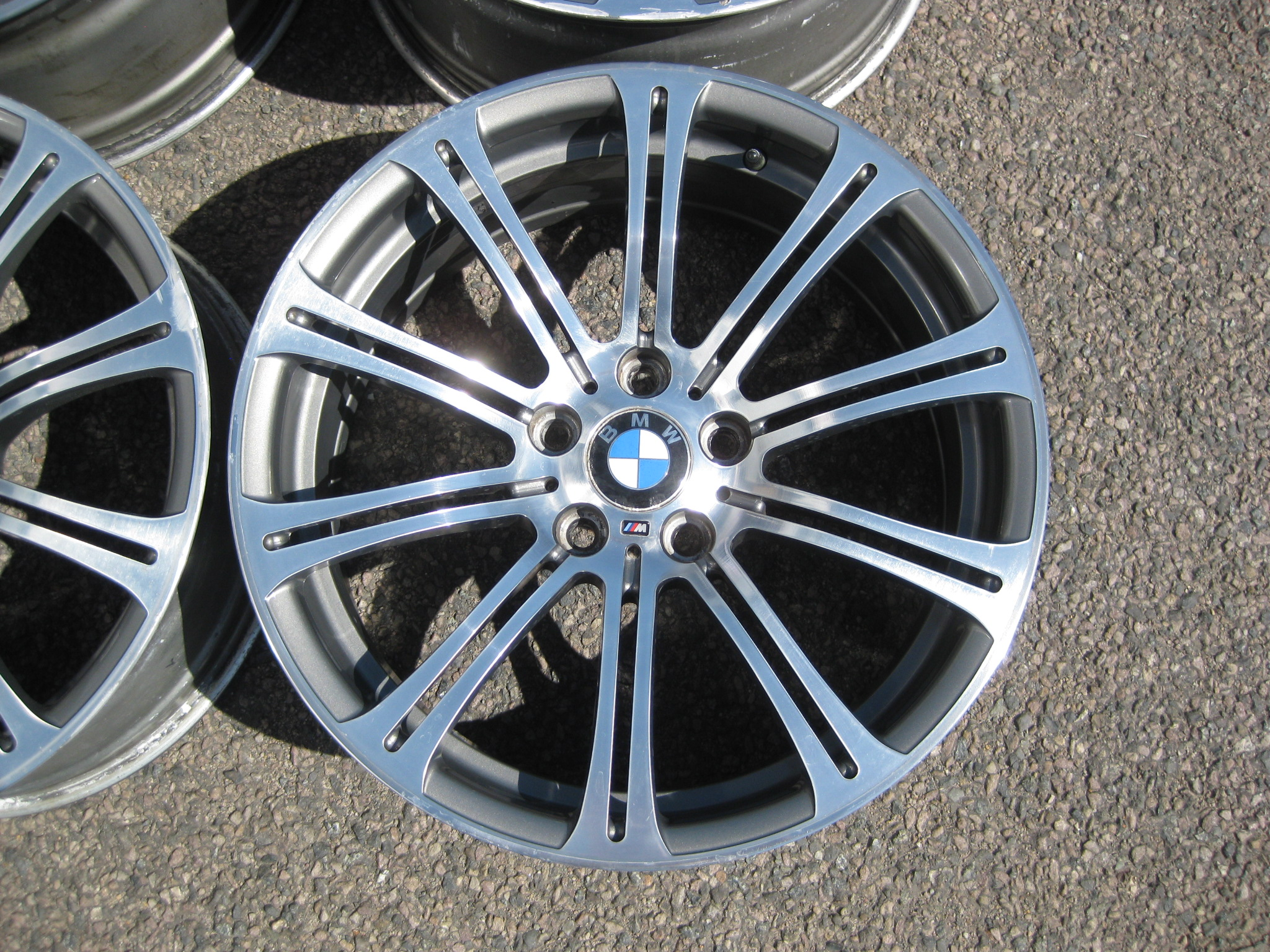 "USED 19"" GENUINE BMW STYLE 220 E92 M3 POLISHED FORGED ALLOY WHEELS, WIDE REAR,GOOD ORIGINAL CONDITION"