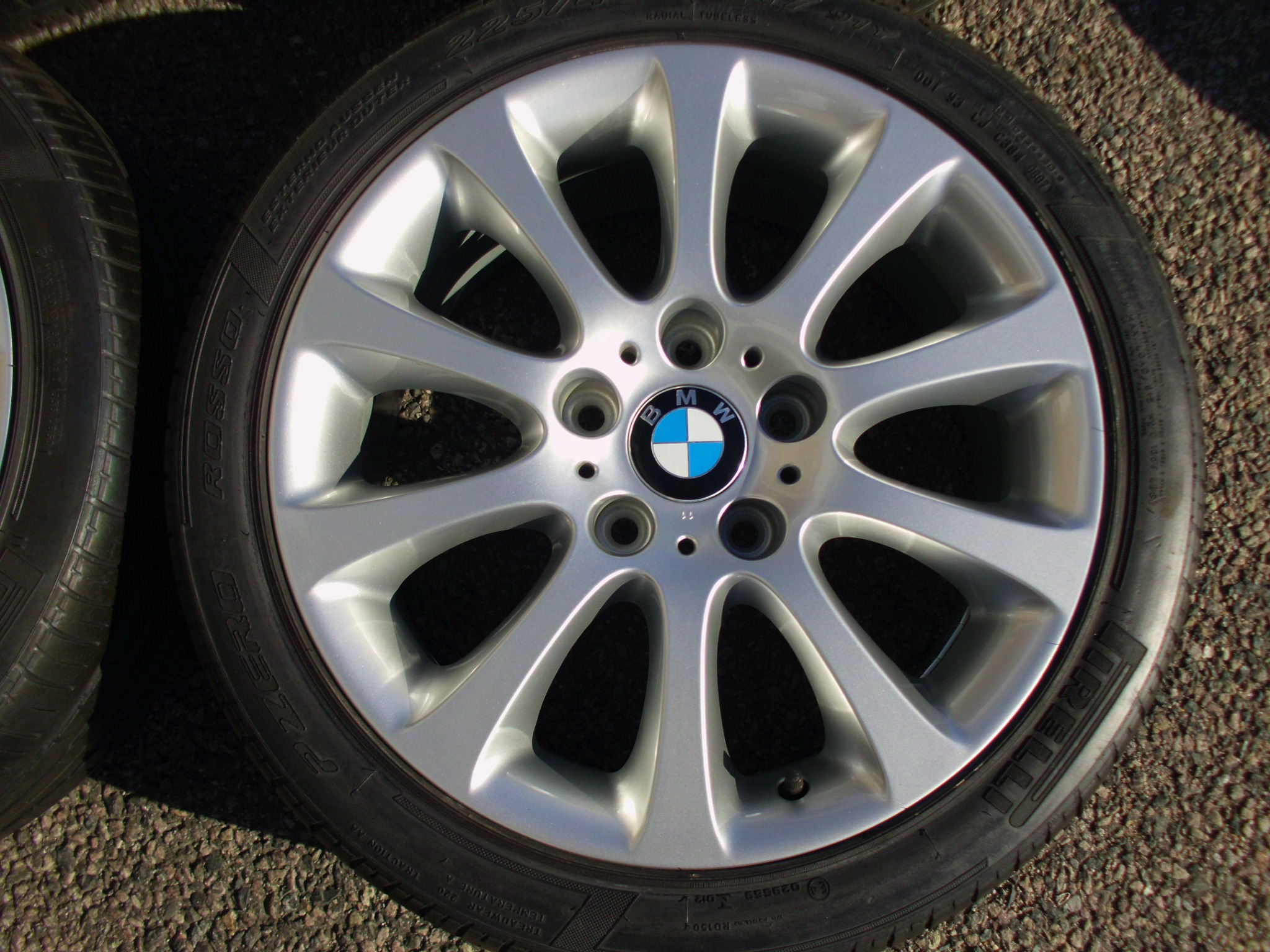 "USED 17"" GENUINE STYLE 171 10 SPOKE ALLOY WHEELS, FULLY REFURBED INC VG PIRELLI TYRES"
